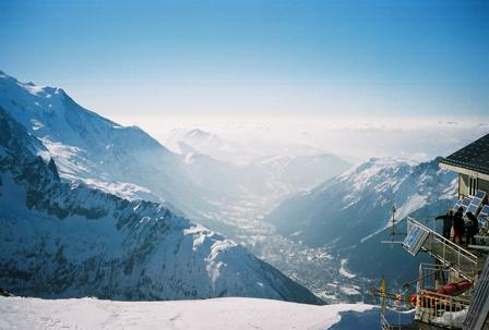 View of Chamonix Valley from one of the peaks.