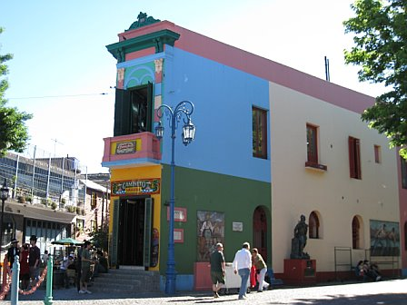Caminito, the main street in La Boca