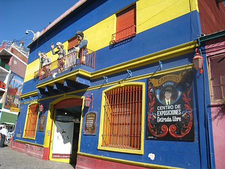 Colorful facades of La Boca