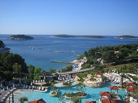 The view from Tanya's hotel in Hvar